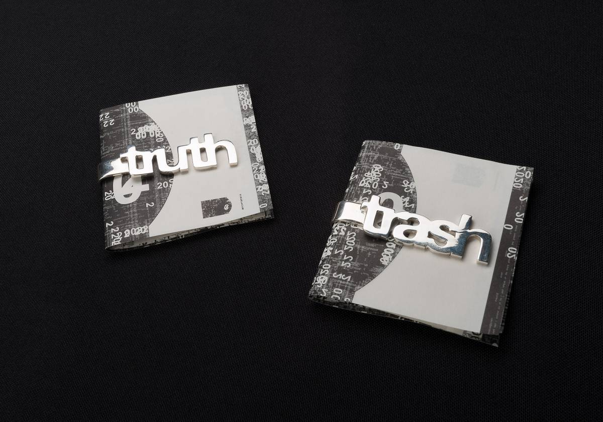 Famed and Michael Riedel: Money clip Truth / Trash.